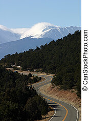 Mountain Road - Curvy mountain road through the Wet...