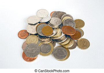 loose change - pile of loose english money