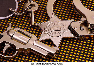 Sheriff - Photo of Various Objects That a Sheriff Would Have