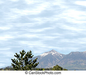 Snow Capped Peaks - Snow capped San Francisco Peaks with...