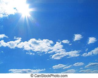 Sky-sun-clouds