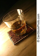 Whiskey Tumbler and mat