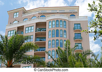 Tropical Condo - A Tropical, art deco style condo with palm...