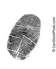 Thumbprint - Black thumbprint with white backgraound