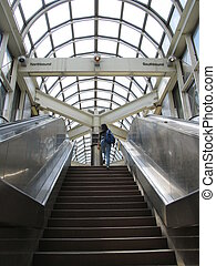 lonley passanger - subway station, Toronto