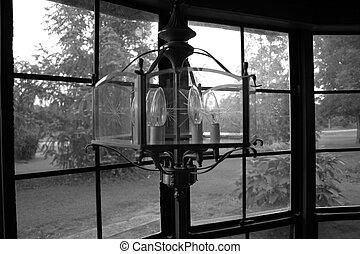 Bay Window - Lamp in a bay window