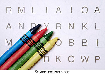 Word games - Word search with crayons