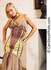 Fashion 3 - Blonde woman in tight fitting dress