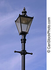 Old lamp post - Reproduction lamp post on street in Burnham...