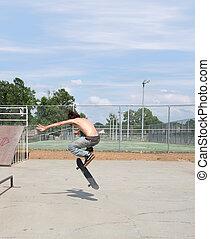 Skateboarder at Park