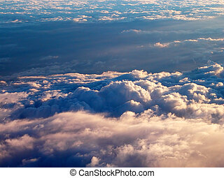 Above the clouds - Impressive view on the clouds from an...