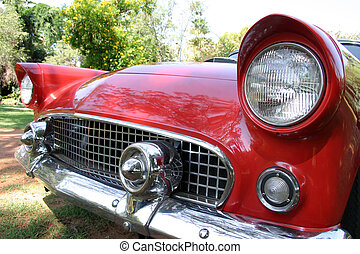 red car - Red car front grille