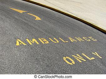 ambulance only - tarmac ambulance markings