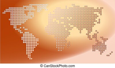 Dot Map - world map made up of dots