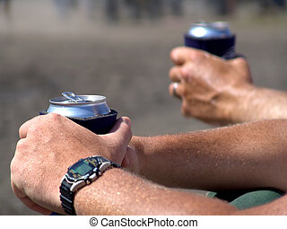 guys' day out - cold beer on a hot summer day - a guys' day...