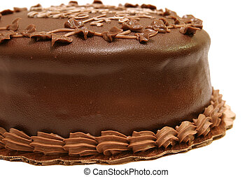 Chocolate Cake 2 - a side view of a chocolate fudge cake...