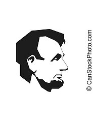 Simplified Lincoln - First american president vectorized.