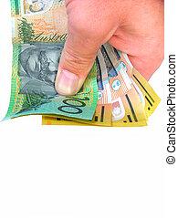 holding money - holding australian money