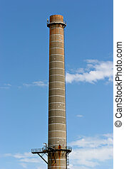 smokestack - an industrial chimney / smokestack from an oil...