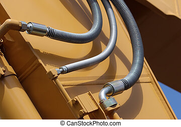 hydraulic lines on a front shovel