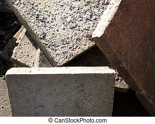 Slabs - This is a set of concrete slabs.