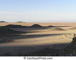 Sand dunes 3 desert - Sand dunes and luminous mountains of...