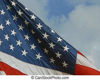 Stars with Stripes - detail of American flag with emphasis...