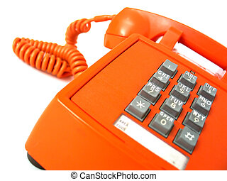Telephone - Old-school orange telephone