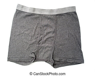 Men's Boxer Briefs - A pair of plan gray boxer briefs for...