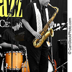 All that jazz - Limited color image of a jazz band