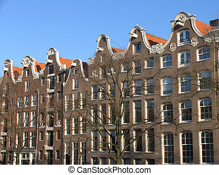 Amsterdam architectu - Canal houses in Amsterdam, Holland
