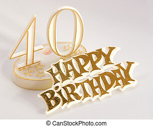 40th, cumpleaños, señal