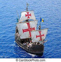 Discoverer - A replica of Christopher Columbus ship Santa...