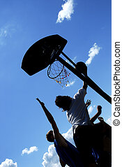 basketball on open air,summer streetball