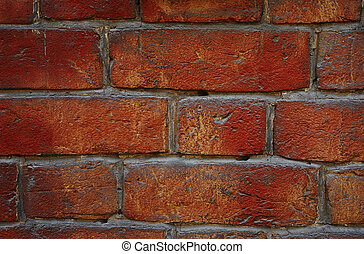 red brick wall - red old brick wall as a texture