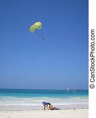 beach children - children enjoying vacation time at the...