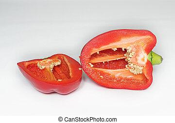 Peppers 2 - Red Pepper cut in half