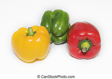Peppers 7 - Red Pepper, green pepper, yellow pepper