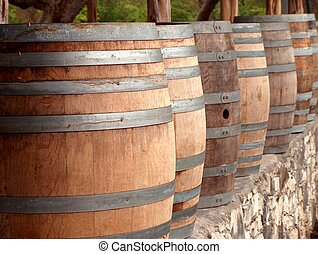 Wine Casks 2 - Close up of wine casks