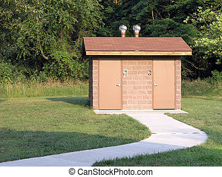 Outdoor Toilet - Outdoor bathroom and path at Rend Lake...