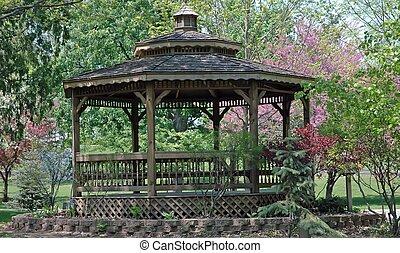 Gazebo - Beautiful gazebo in the park