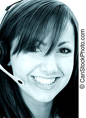 Customer Service - Beautiful Smiling Customer Service...