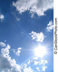 Sky-sun-clouds - Sky, sun, clouds, background
