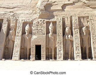 Abu Simbel Temple - Nefertari - Hathor Temple consecrate...