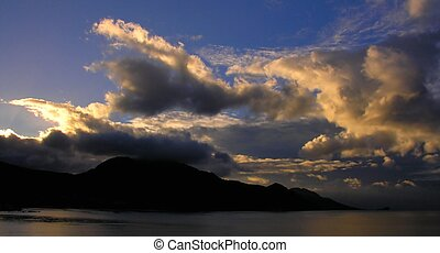 Early in the morning - The caribbean island Dominica after...