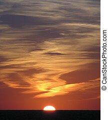 Touchdown - Caribbean sunset...