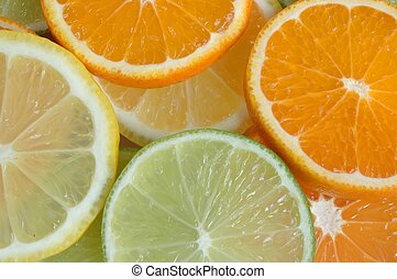 fruta, fatias