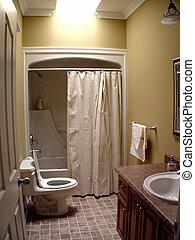 Interior of Bathroom - Interior of small bathroom