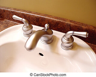 Bathroom Sink and taps - Bathroom sink and taps