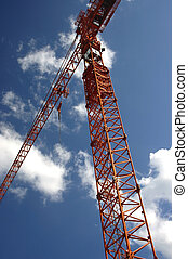 Construction Crane - Tall ConstructionGantry Crane, on a...